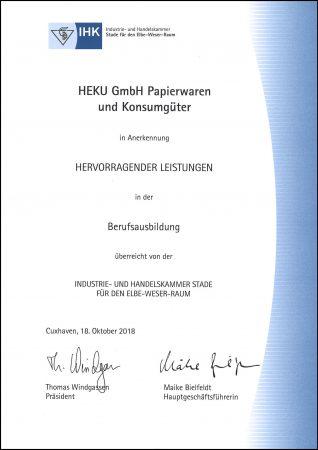 Urkunde_Ausbildungsbetrieb_IHK_Stade_Elbe-Weser-Raum