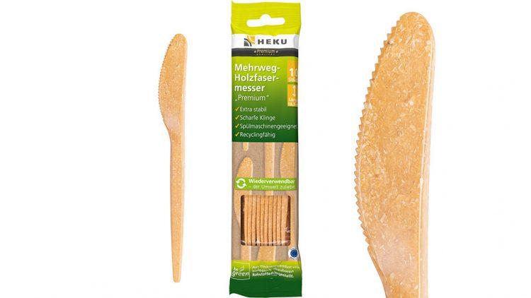 HEKU Holzfaserbesteck Messer